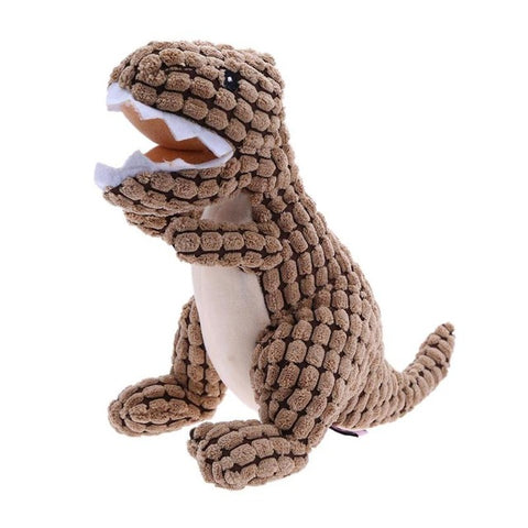 Pet Dogs Toy Bite Resistant Cloth Dinosaur Doll Dog Sound Teething Toys