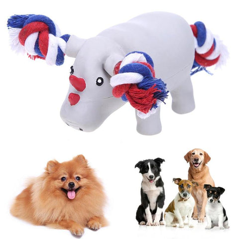 Latex Pet Dog Toys Bite Resistant Sound Rhinoceros