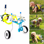 Aluminum&Stainless Steel Dog Wheelchair Pet Scooter Pet Rehabilitation Adjustable Training Wheelchair for Disabled Dog #276835