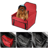 Folding Pet Dog Cat Safe Travel Carrier Car Seat with Safety Leash
