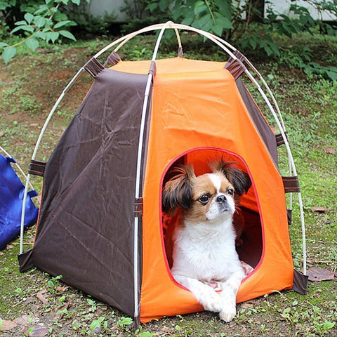 Durable Oxford Fabric Foldable Outdoors Waterproof Cat Dog Pet House Bed Tent