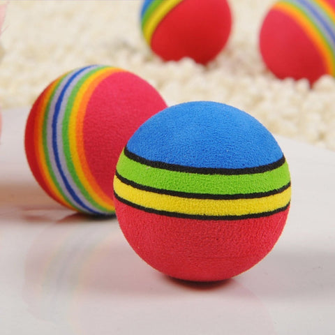 Random Color Pet Toys Dogs Ball Super Q Rainbow Pet Ball Cat   Dog Toy Ball Cats Ball