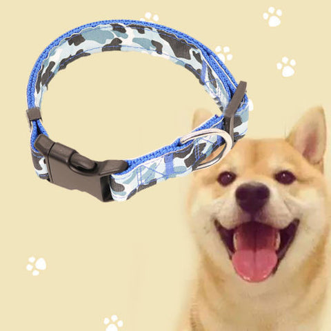 New Camouflage Pet Traction Collar Nylon Dog Collar Adjustable Pet Dog Collars