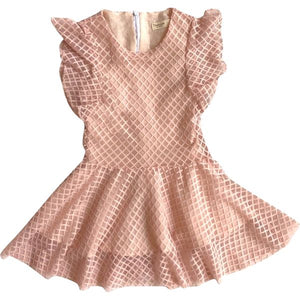 TIGRESS DRESS - Pink Tweed