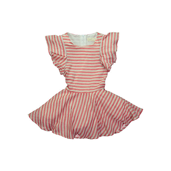 Tigress Dress - Red stripes
