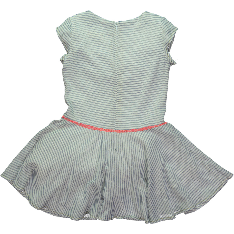 Duo Dress - Blue stripes with lurex