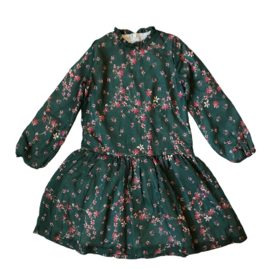 DUO DRESS - Green Flowers