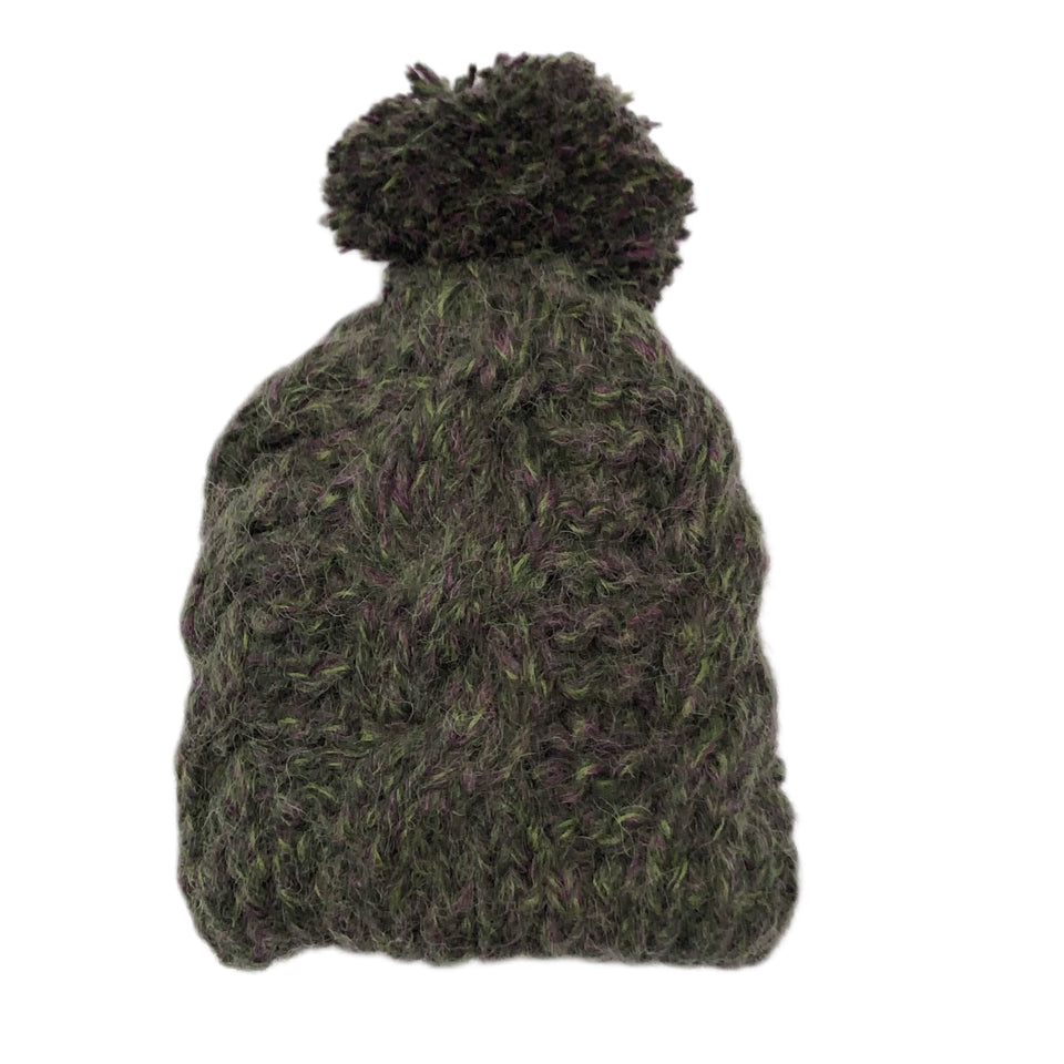 Tundra Cable Knit Hat Green