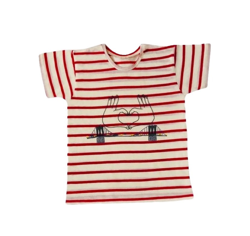 PAUL TEE-SHIRT - Brooklyn Red Stripes