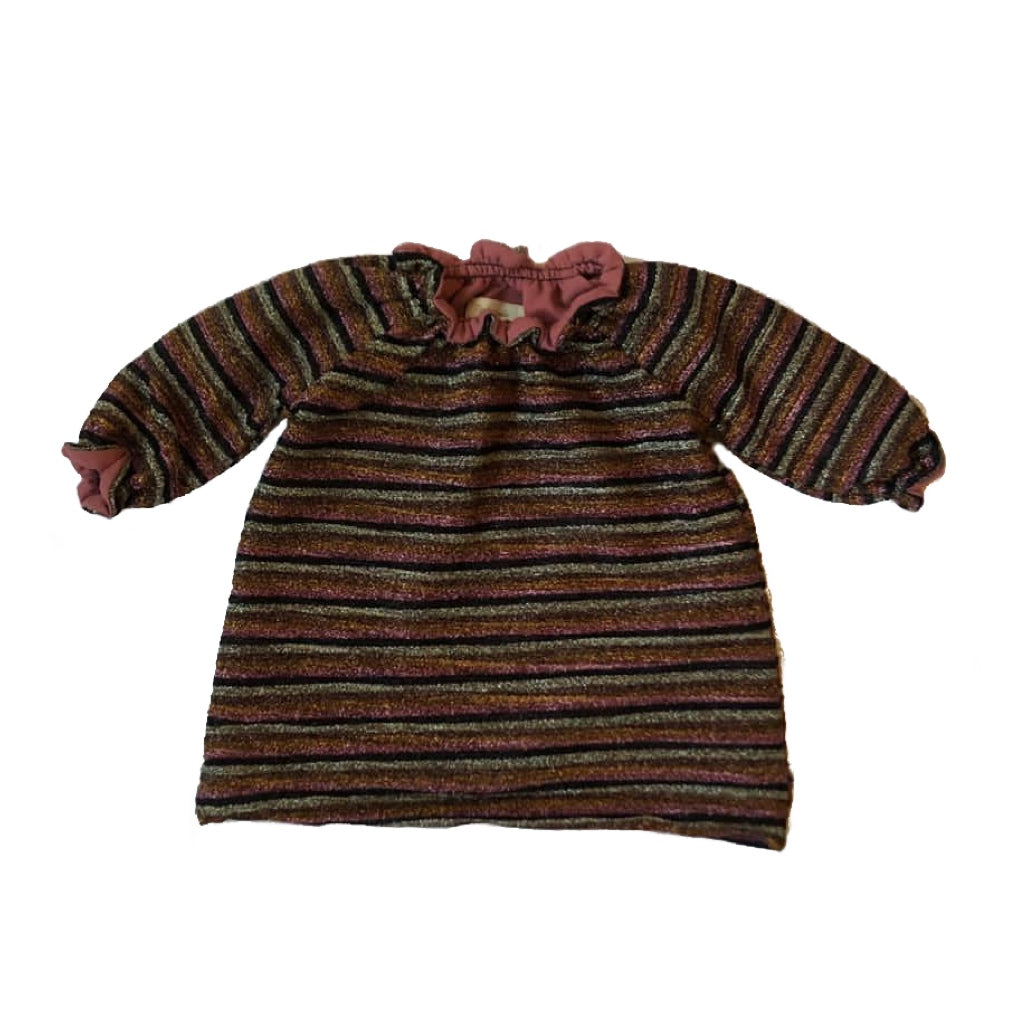 SMOCK DRESS - Shiny Stripes