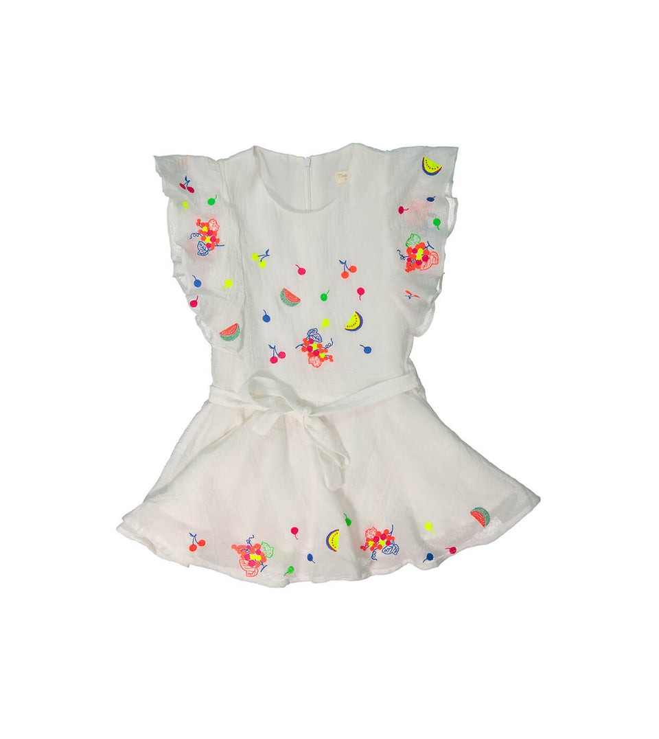Tigress Dress for girls - white design