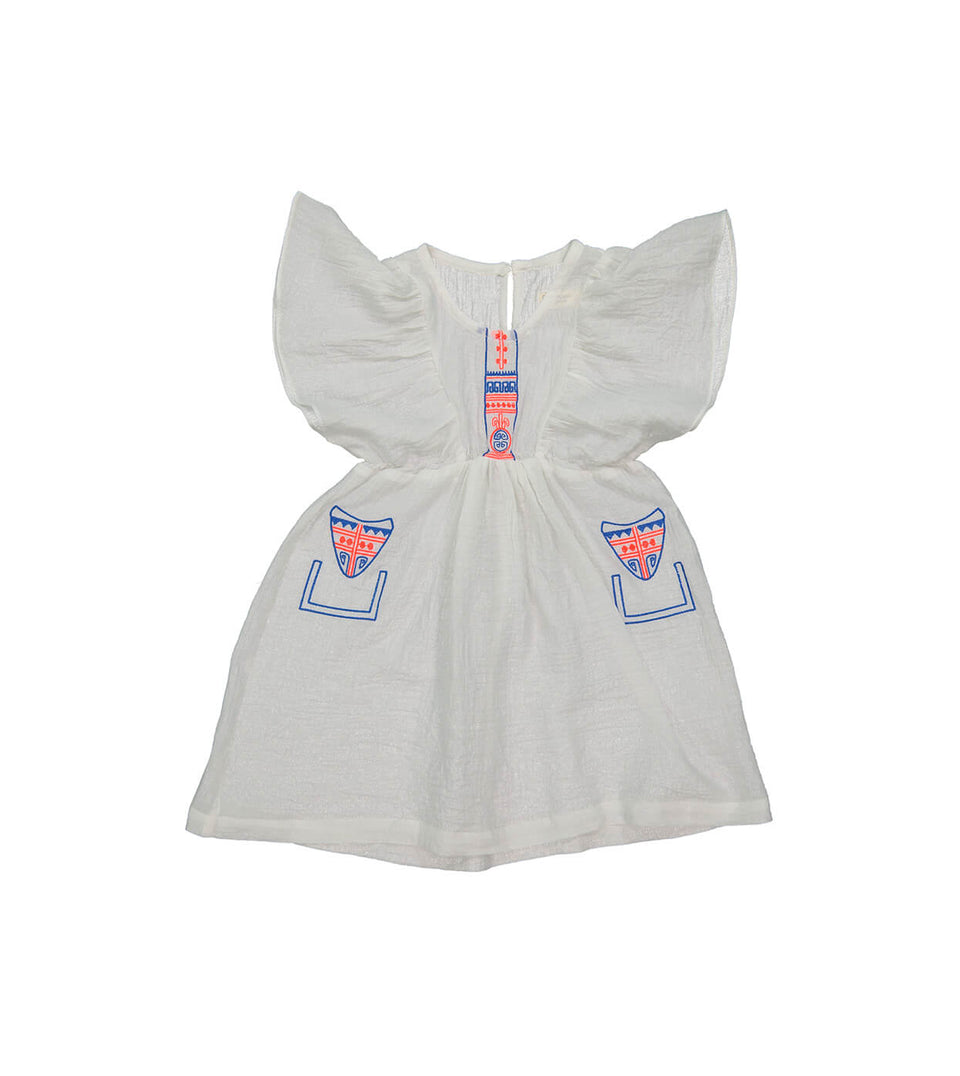 Renee Dress for girls - white design