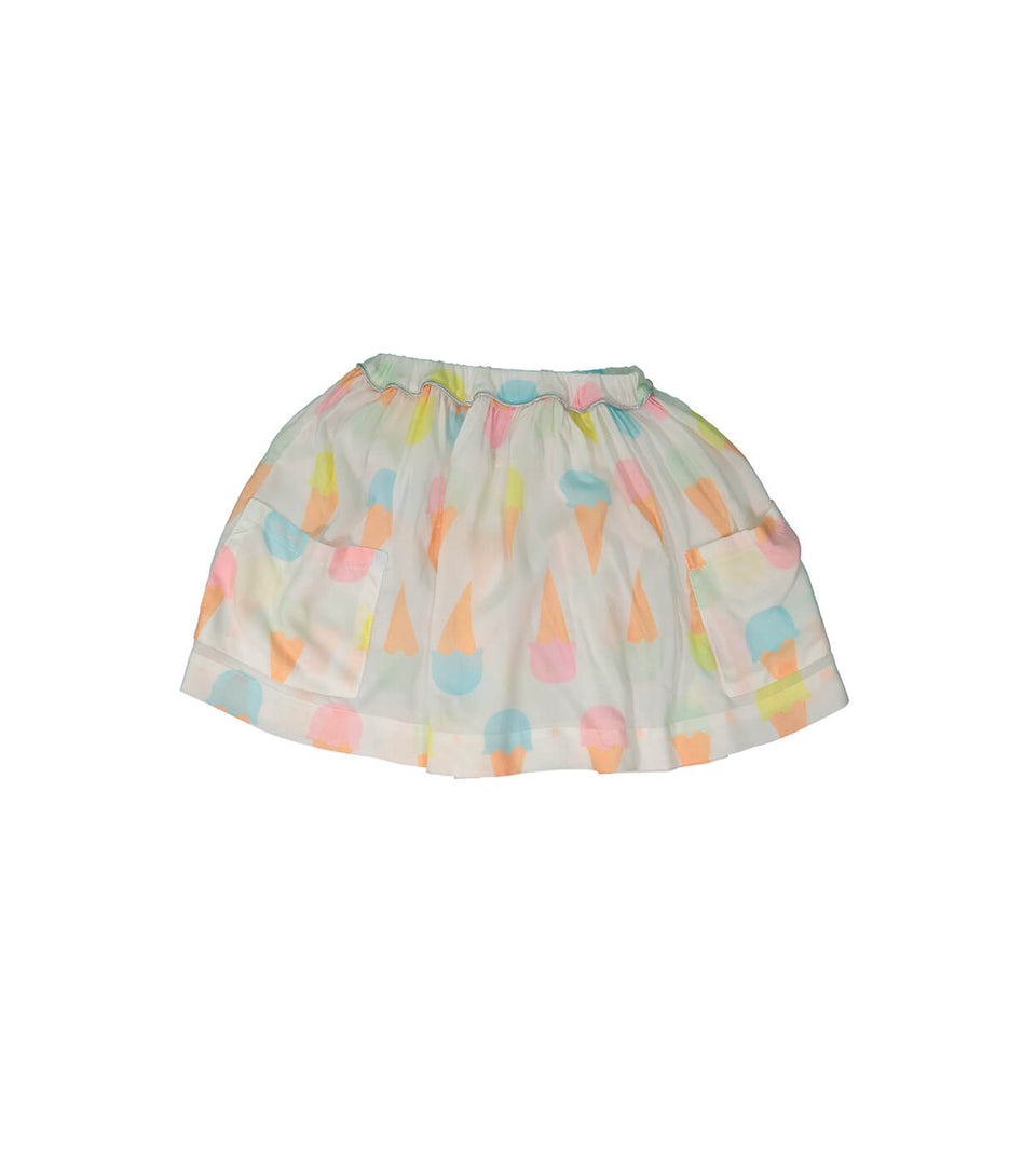 Trapeze Skirt for girls and babies - icecream design