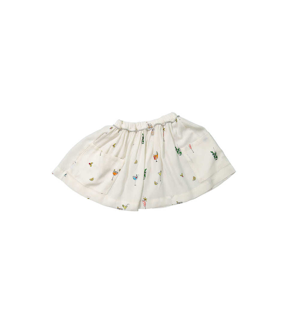 Trapeze Skirt for girls and babies - Cocktail design