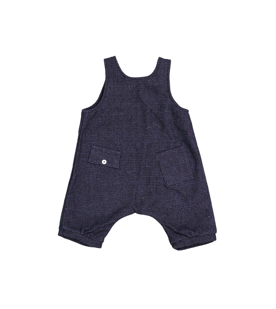 Salopette Jumper - Navy Tweed