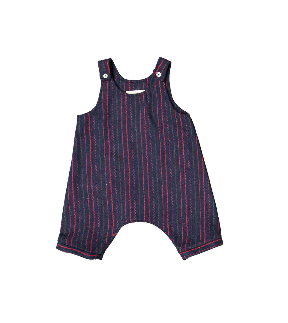 Salopette Jumper - Stripes Red