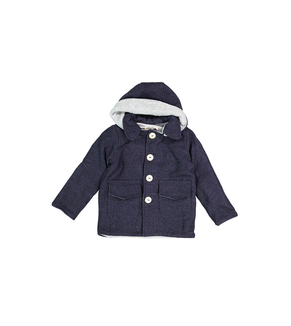Theo Coat - Navy Tweed