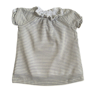 SMOCK DRESS - Blue Shinny Stripes