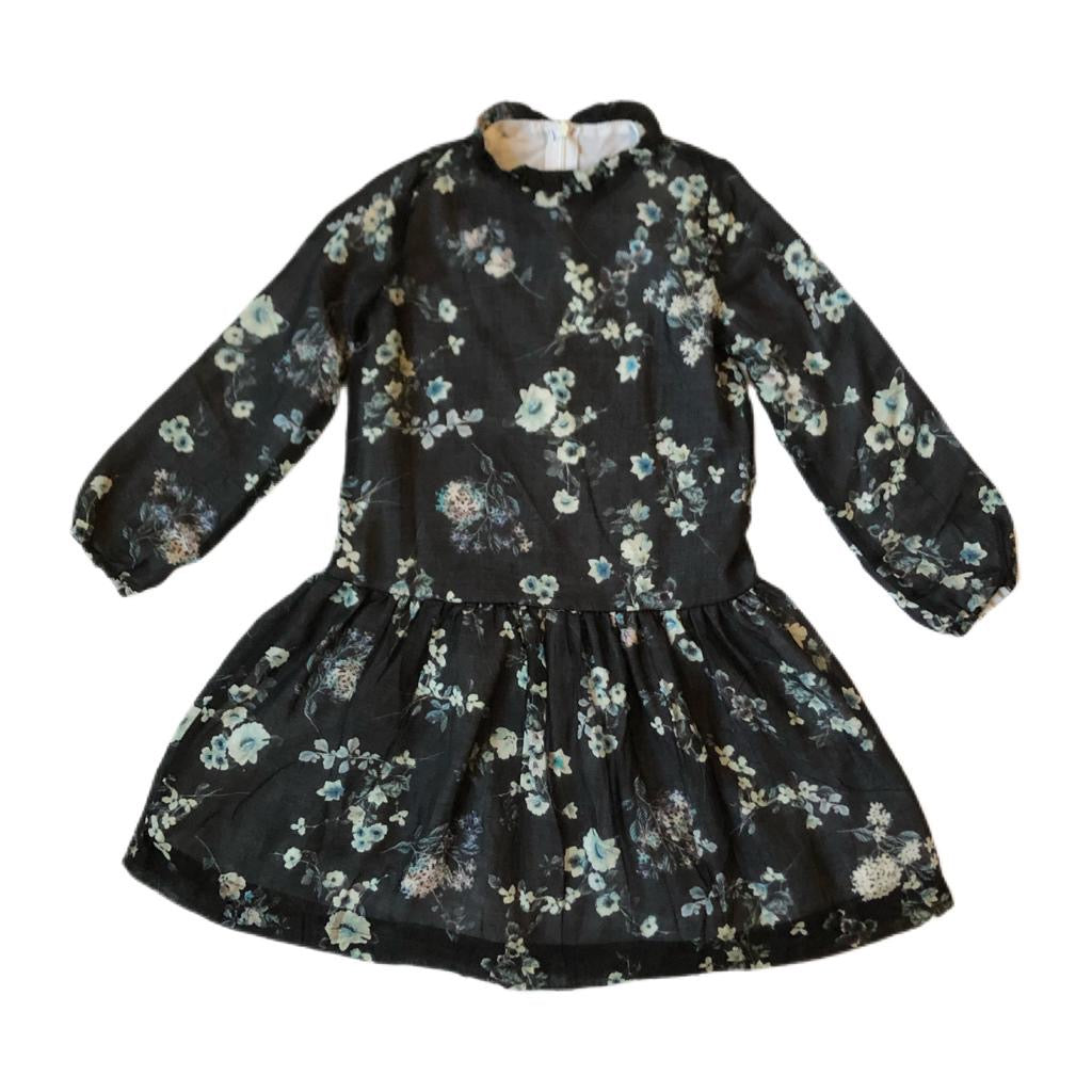 DUO DRESS - Black Flowers