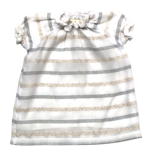 SMOCK DRESS - Cream Stripes