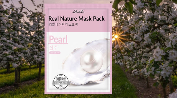 RiRe - Real Nature Mask Pack (Pearl) 1pc
