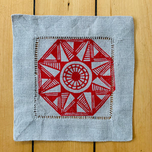 Set of Four Linen Coasters