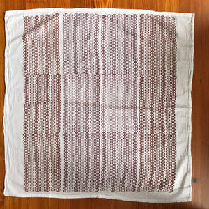 Large Hand Block Printed Tea Towel-Bubbles