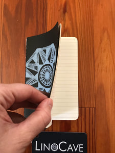 Printed Moleskine Cahier Journal-Small, Ruled, Black