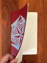 Load image into Gallery viewer, Printed Moleskine Cahier Journal-Medium, Ruled, Red