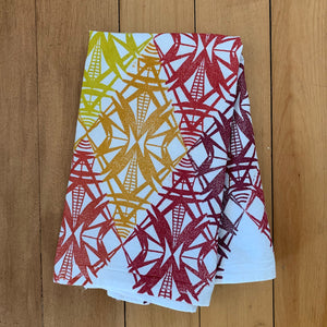 Small Hand Block Printed Tea Towel-Balancing Act
