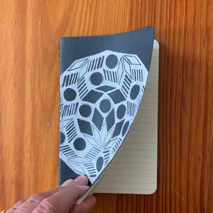 Printed Moleskine Cahier Journal, Small, Ruled, Black