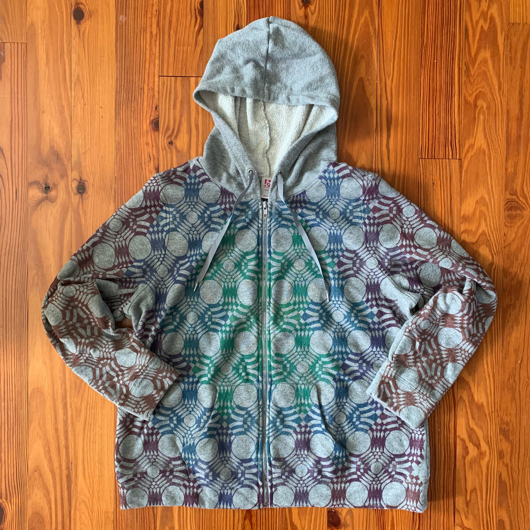 Hand Block Printed Upcycled Hoodie - Women's 18/20 2X