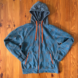 Hand Block Printed Upcycled Hoodie - Men's Medium