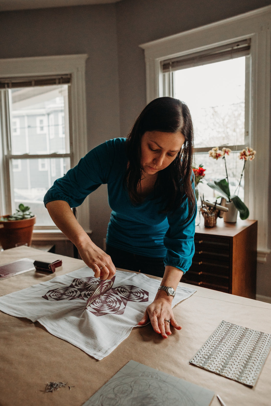 Custom Block Printing Class in Your Home or Office-All Levels (price per student)