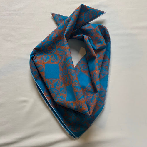 "Hand Block Printed Cotton Bandana-20""x20"""