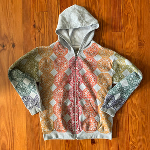 Hand Block Printed Upcycled Hoodie - Women's Medium