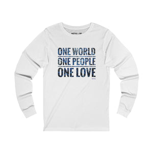 ONE Unisex Jersey Long Sleeve T-Shirt - nistka + me
