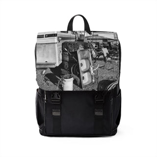 TRAILER PARK Unisex Casual Shoulder Backpack - nistka + me