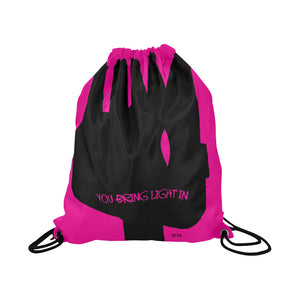 BRING LIGHT IN Drawstring Bag - nistka + me