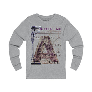 OLD SCHOOL 2 Unisex Jersey Long Sleeve T-Shirt - nistka + me