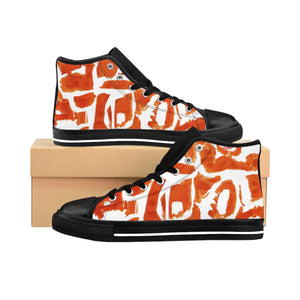 MANUAL ORANGE Women's High-top Sneakers - nistka + me
