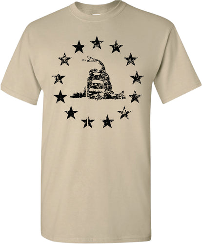 Three Snake 13 Stars T-Shirt