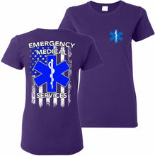 Load image into Gallery viewer, EMS Emergency Medical Services T-Shirt Women