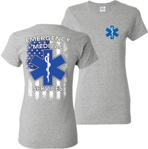 EMS Emergency Medical Services T-Shirt Women