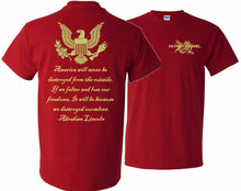 Load image into Gallery viewer, Abe Lincoln Quote T-Shirt