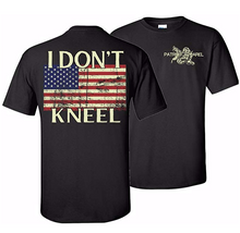 Load image into Gallery viewer, I Don't Kneel Patriotic T-Shirt