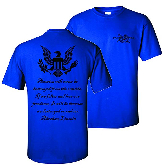 2nd Amendment Eagle Abraham Lincoln T-Shirt
