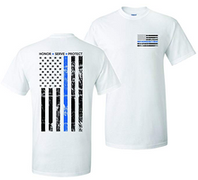 Load image into Gallery viewer, Thin Blue Line Hero T-Shirt