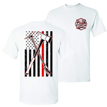 Load image into Gallery viewer, Axe Halligan 2 Hero Thin Red Line Firefighter T-Shirt