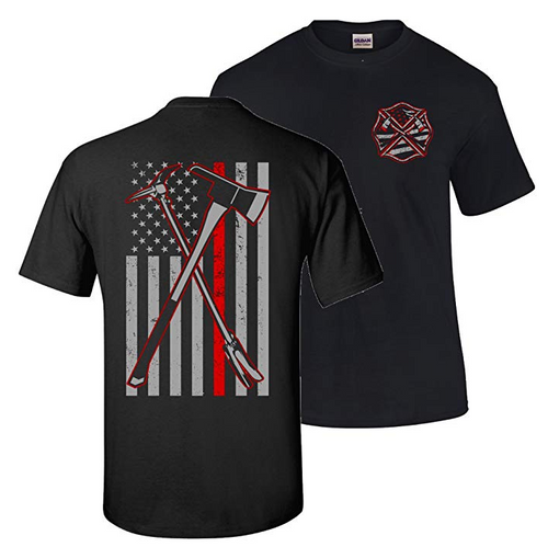 Axe Halligan 2 Hero Thin Red Line Firefighter T-Shirt